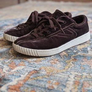 Madewell x Tretorn velvet sneakers
